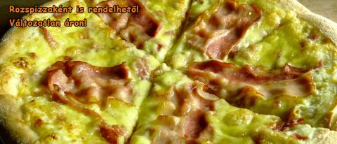 Bacon pizza 30cm thick