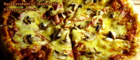 Pizza with ham and mushrooms 30cm thick