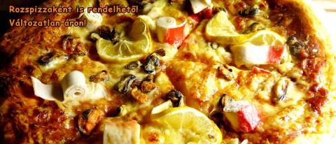 Seafood pizza 30cm thick